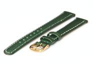 Horlogeband 12mm groen leer