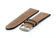 Horlogeband 20mm bruin