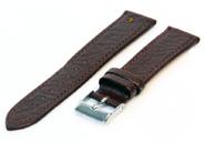 Horlogeband 14mm bruin buffelleer