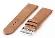Horlogeband 18mm zandkleur leer