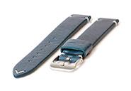 Horlogeband 22mm vintage blauw leer