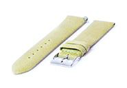 Horlogeband 22mm vintage groen leer