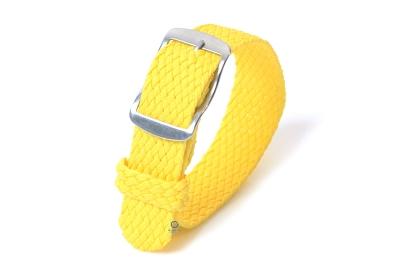 Perlon horlogeband 18mm geel