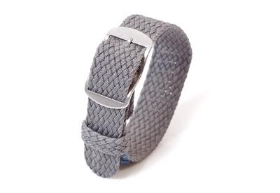 Perlon horlogeband 16mm grijs