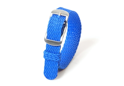 Perlon horlogeband 14mm royal blauw
