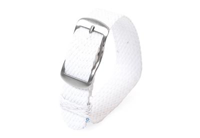 Perlon horlogeband 14mm wit