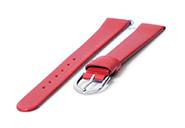 Horlogeband 18mm naadloos rood leer