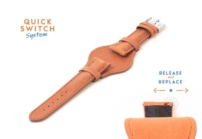 Horlogeband 18mm flieger bruin