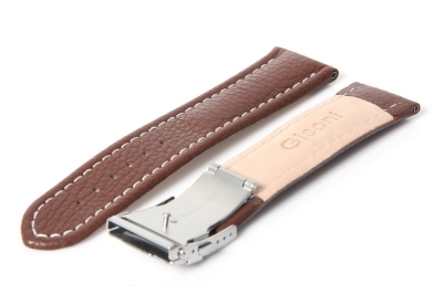 Gisoni Horlogeband 24mm bruin kalf