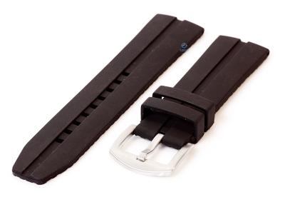 Waterdichte horlogeband van siliconen - 24mm - zwart