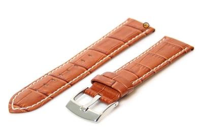 24mm horlogeband van leer - cognac brown