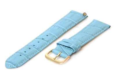 Horlogeband 18mm blauw
