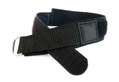 Horlogeband 16mm zwart klittenband