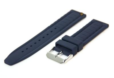 Horlogeband 20mm blauw