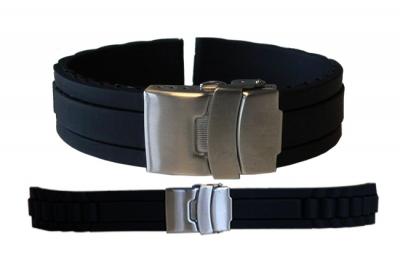 Horlogeband 16mm zwart