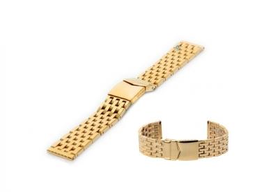 Horlogeband 20mm gepolijst staal goud