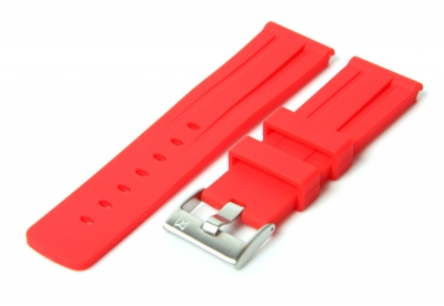 Horlogeband 24mm rood