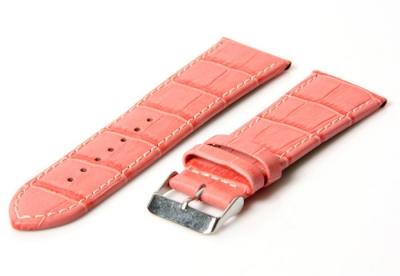 Horlogeband 34mm croco roze