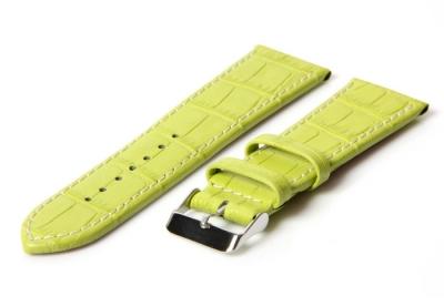 Horlogeband 34mm croco groen