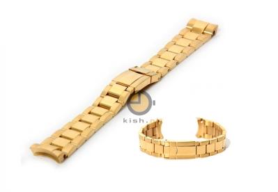 Horlogeband voor Rolex horloge 20mm goud - deels gepolijst