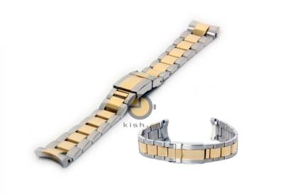 Horlogeband voor Rolex horloge 20mm zilver/goud