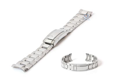 Horlogeband voor Rolex horloge 20mm RLX zilver - deels gepolijst