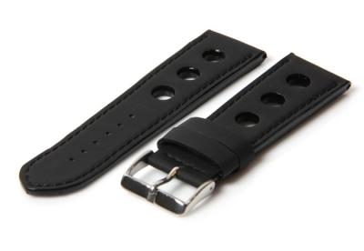 Horlogeband 18mm racing zwart
