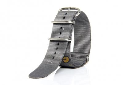 Horlogeband 24mm nato grijs