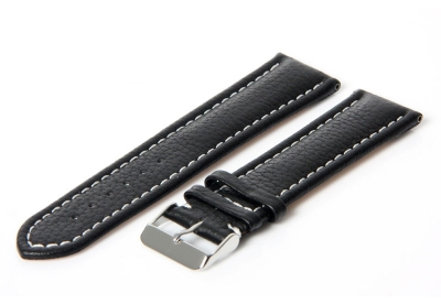 Gisoni Horlogeband 24mm zwart kalf
