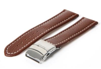 Gisoni Horlogeband 22mm bruin kalf