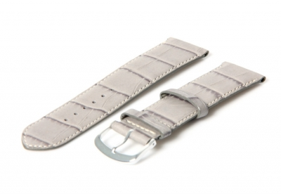 Lichtgrijze horlogeband van leer - 22mm