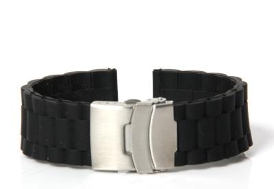 Horlogeband 24mm zwart rubber