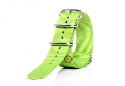 Horlogeband 24mm nylon groen