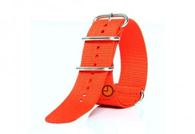 Horlogeband 24mm nylon rood