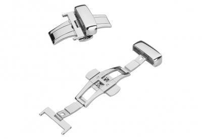 Vlindersluiting 18mm zilver met drukkers