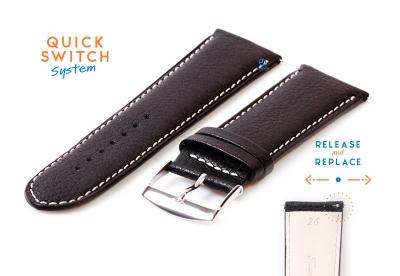 Horlogeband 26mm zwart