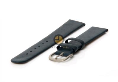 Danish Design horlogeband 18mm leer blauw