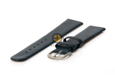 Danish Design horlogeband 20mm leer blauw