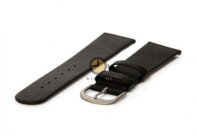 Danish Design horlogeband 22mm leer zwart