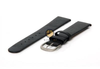 Danish Design horlogeband 19mm leer zwart