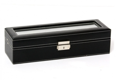 Gisoni horlogebox 6 stuks zwart