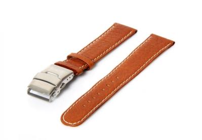 Aeromatic horlogeband bruin 20mm vouwsluiting