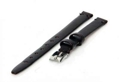 Horlogeband 8mm donkerbruin
