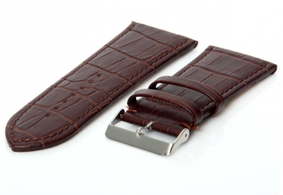 Horlogeband 36mm leer donkerbruin