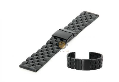 Horlogeband 26mm staal mat zwart