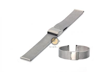 Milanese horlogeband 16mm fijn zilver