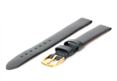 Horlogeband 10mm grijs leer naadloos