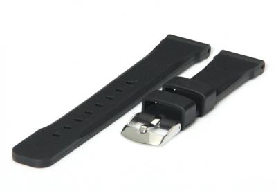 Horlogeband 18mm zwart rubber