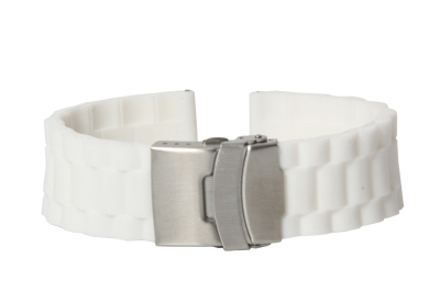 Horlogeband 22mm wit rubber