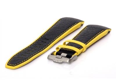 Jacques Lemans horlogeband F5034 zwart-geel